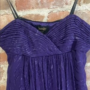Laundry by Shelli Segal Strapless Purple Gown